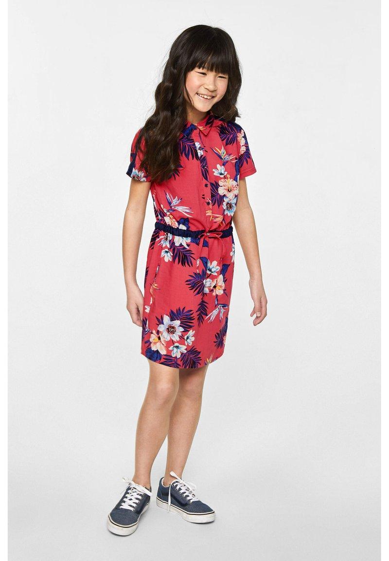 WE Fashion - WE FASHION MEISJES OVERHEMDJURK MET DESSIN - Vestido camisero - red