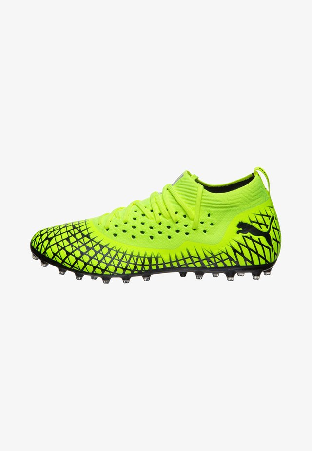 NETFIT MG FUSSBALL - Moulded stud football boots - yellow alert /black