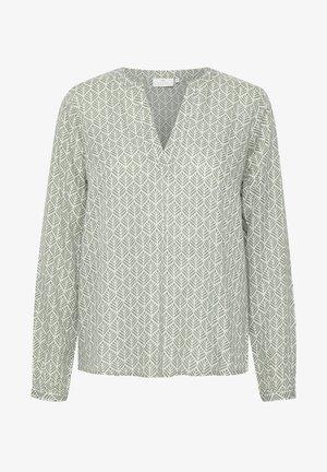 MARLU - Bluser - hedge green / chalk fan print
