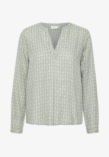 MARLU - Blouse - hedge green / chalk fan print