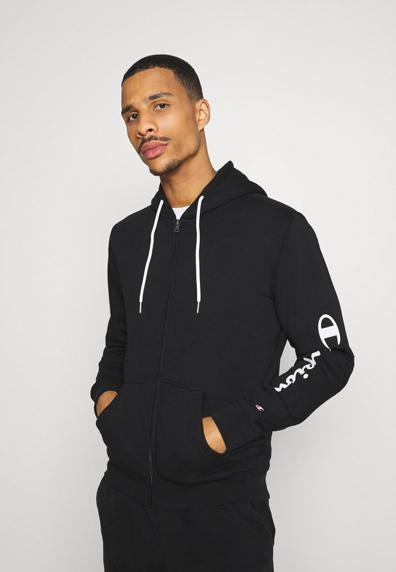 Champion - LEGACY - Zip-up hoodie - black