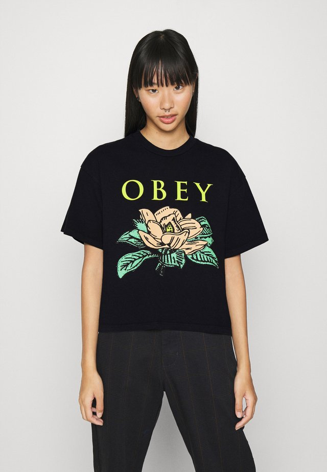 LOTUS FLOWER - T-shirts print - off black