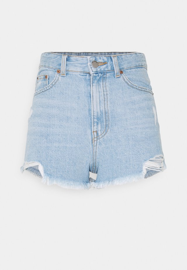SKYE - Shorts di jeans - empress light blue ripped