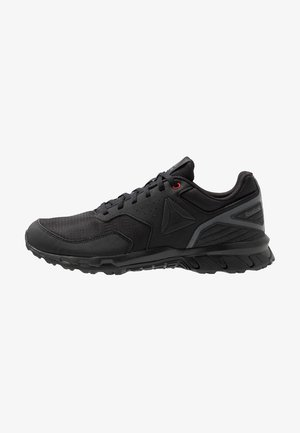 RIDGERIDER TRAIL 4.0 - Trail running shoes - black/grey/red