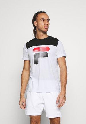 TIM  - Print T-shirt - white/black