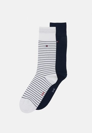 MEN SMALL STRIPE SOCK 2 PACK - Socks - white