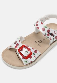 Geox - COSTAREI - Sandals - silver/red - 4