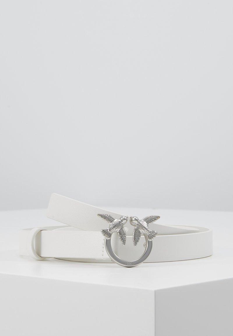 Pinko - BERRI SMALL SIMPLY BELT - Belt - white