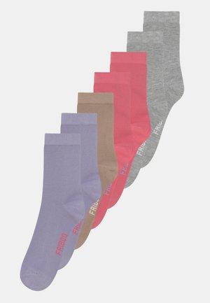 7 PACK - Sokken - grey/red/khaki