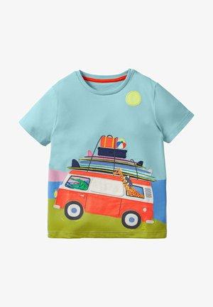Print T-shirt - türkisblau, kleinbus