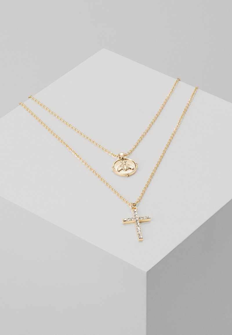 River Island - CROSS AND BUG - Ketting - gold-coloured