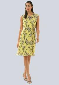 Alba Moda - Day dress - gelb,flieder - 1