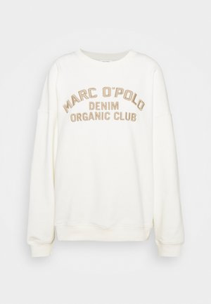 LONGSLEEVE CREWNECK OVERSIZED FIT CHEST EMBROIDERY - Sweater - off-white