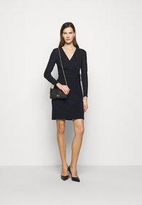 Lauren Ralph Lauren - BONDED DRESS COMBO - Shift dress - lighthouse navy - 1