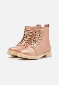 Cotton On - LACE UP ROXIE BOOT - Lace-up ankle boots - rose/gold - 1