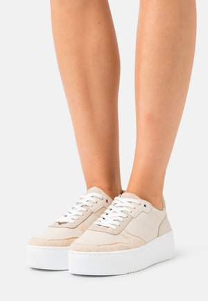 LEATHER  - Sneakers laag - beige