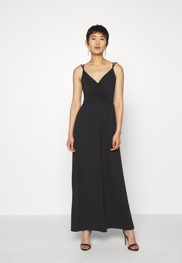 STRAPPY MATTE - Vestito lungo - black