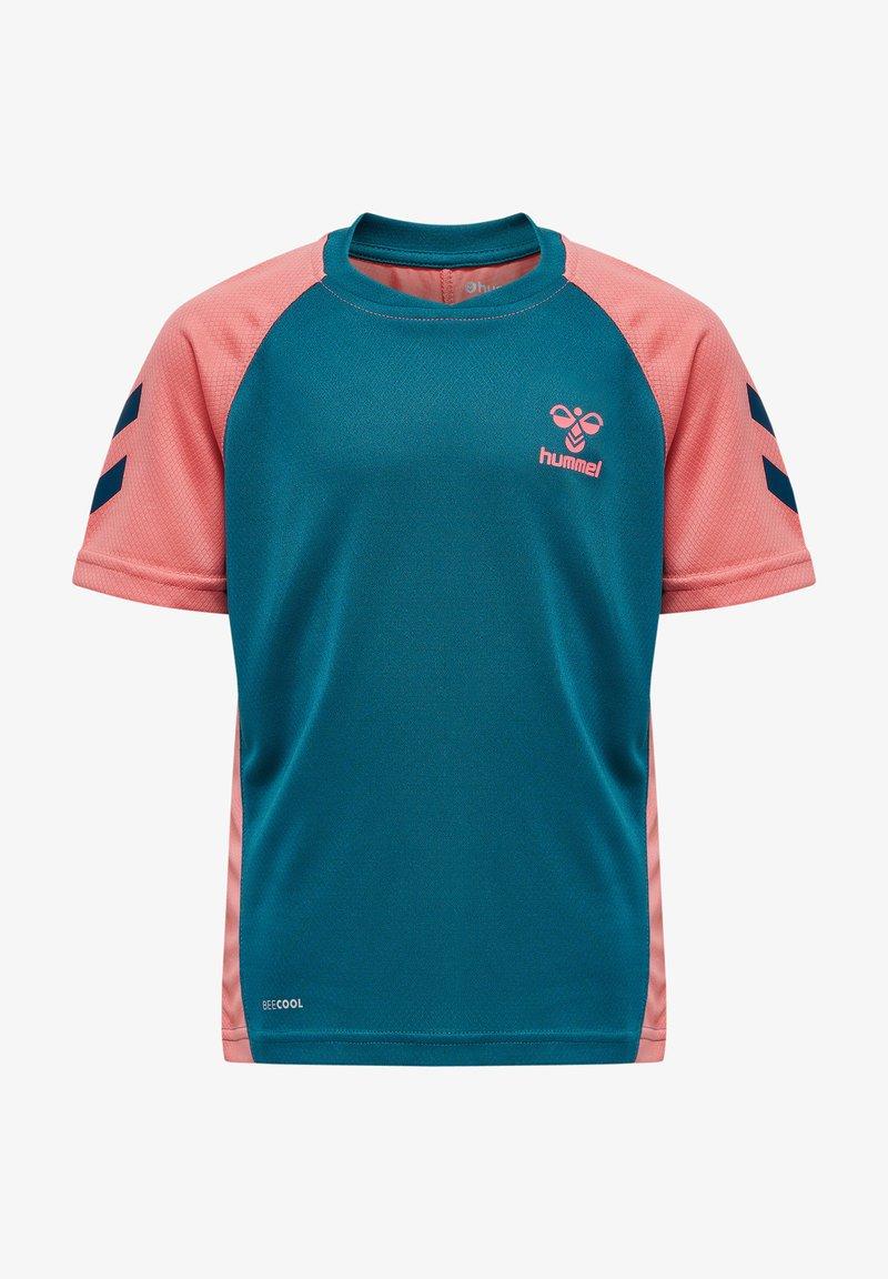 Hummel - ACTION  - Sports shirt - blue coral/tea rose