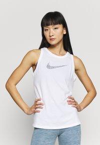 Nike Performance - DRY TANK LEOPARD - Treningsskjorter - white - 0
