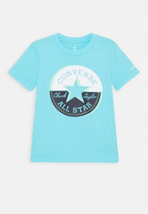 SHORT SLEEVE CHUCK PATCH GRAPHIC UNISEX - T-shirt con stampa - bleached cyan