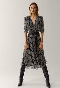 Massimo Dutti - Shift dress - black - 4