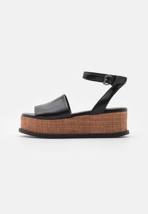 SUNNY - Sandály na platformě - nero