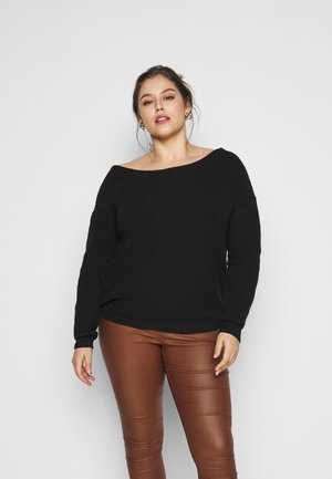 OFF THE SHOULDER JUMPER - Maglione - black