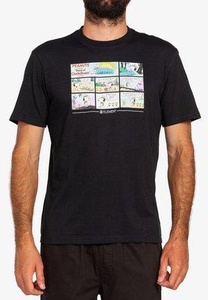 PEANUTS CAMPER - Print T-shirt - flint black