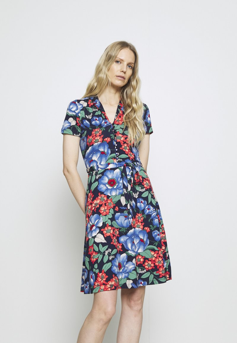 King Louie - EMMY DRESS KIMORA - Košilové šaty - blue