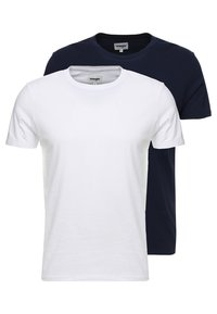 Wrangler - TEE 2 PACK - Basic T-shirt - navy - 0