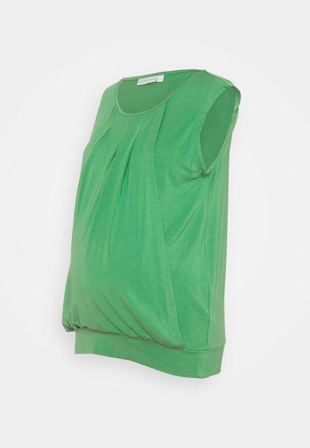 PLEATED MATERNITY & NURSING VEST - Top - green