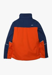 Kjus - BOYS SPEED READER JACKET - Ski jacket - orange/south blue - 2