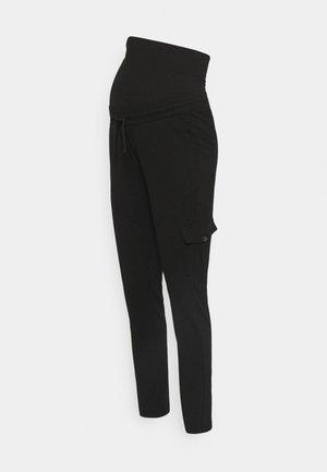 JERSEY - Cargo trousers - black