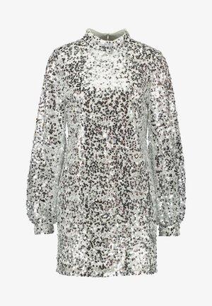 HIGH NECK SEQUIN DRESS - Vapaa-ajan mekko - silver