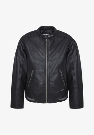 Chaqueta de cuero sintético - black