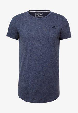 LONG BASIC WITH LOGO - T-shirt - bas - agate stone blue melange