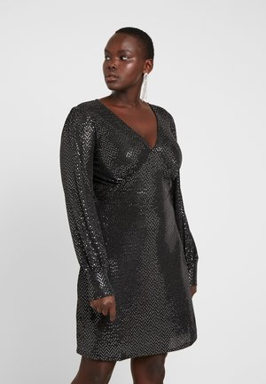 VMDARLING SHORT DRESS - Cocktailkjoler / festkjoler - black/silver
