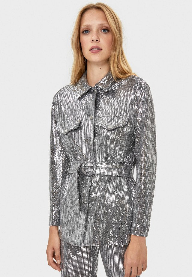 Overhemdblouse - silver
