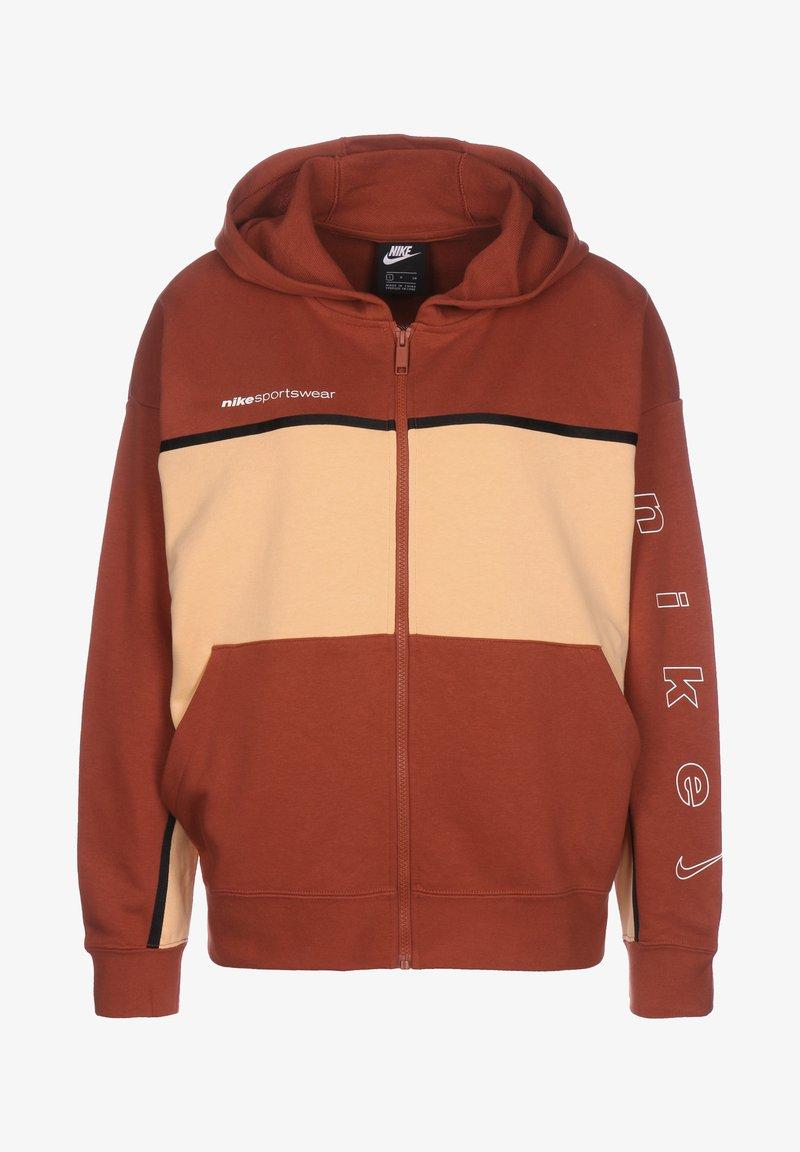 Nike Sportswear - Zip-up hoodie - firewood orange / orange chalk / white
