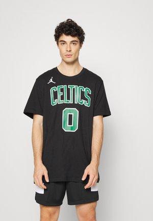 NBA JAYSON TATUM BOSTON CELTICS STATEMENT NAME & NUMBER TEE - Klubbkläder - black/tatum jayson