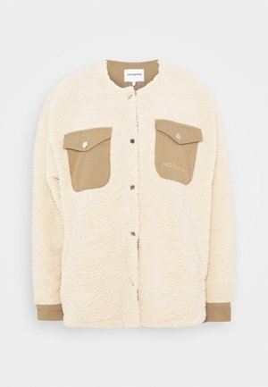 CHECKET PILE JACKET - Summer jacket - beige