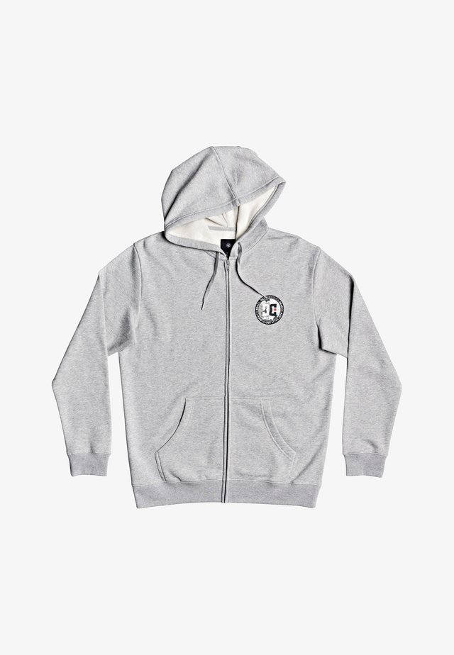 DIVIDE AND CONQUER  - Hoodie met rits - heather grey