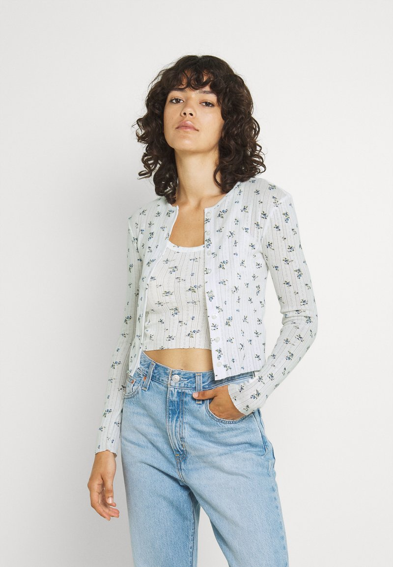 BDG Urban Outfitters - DITSY FLORAL TWIN SET - Cardigan - white