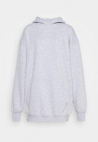 Missguided - PLAYBOY COWGIRL OVERSIZED HOODY DRESS - Day dress - grey - 4
