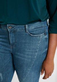 JUNAROSE - by VERO MODA - JRFIVESANLI - Jeans Skinny Fit - dark blue denim - 5
