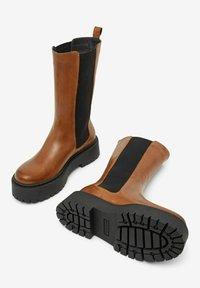 Bianco - BIADEB  - Platform boots - cognac - 1