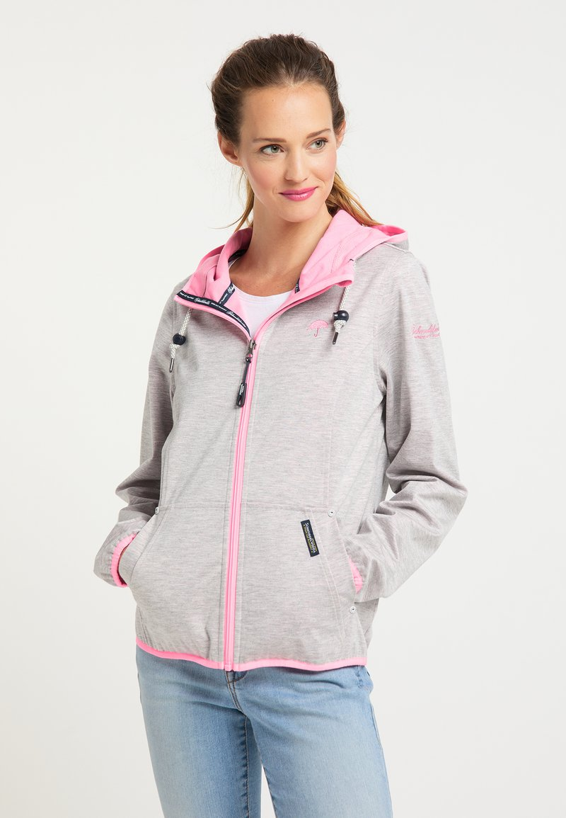 Schmuddelwedda - Light jacket - hellgrau mel pink