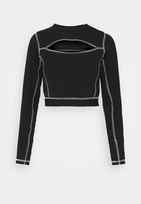 Karl Kani - RETRO CUTOUT CROPPED TAPE LONGSLEEVE - Langærmede T-shirts - black - 5