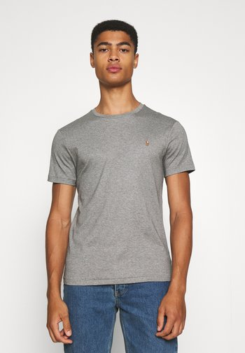 CUSTOM SLIM SOFT COTTON TEE - Basic T-shirt - metallic grey heather
