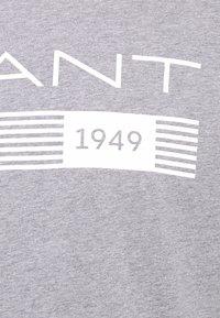 GANT - STRIPES - T-shirt med print - grey melange - 6